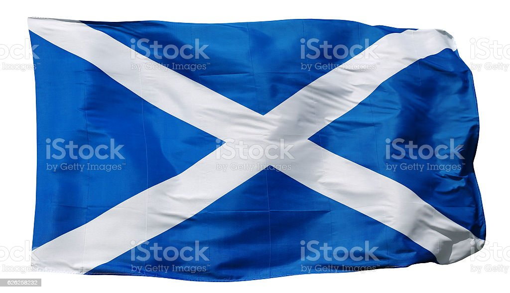 Flag of Scotland - isolated on white stock photo