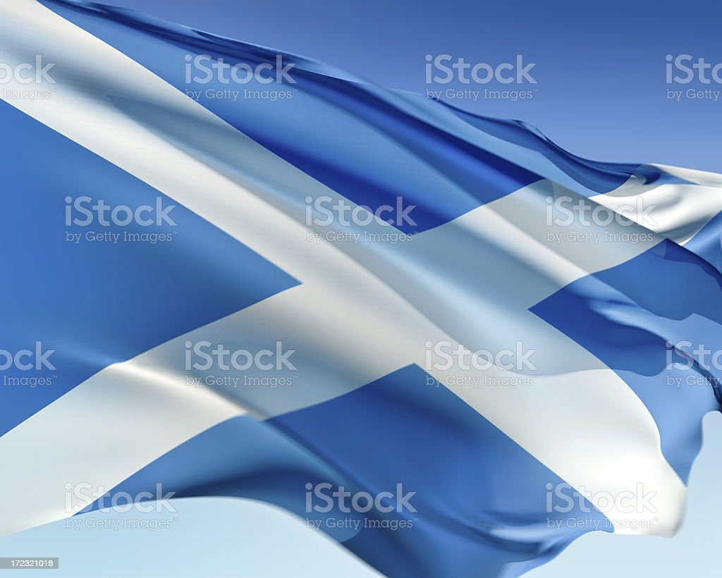 Flag of Scotland royalty-free stock photo