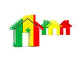 Flag of senegal, home icon