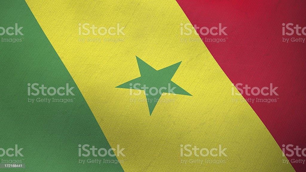 3D flag of Senegal royalty-free stock photo