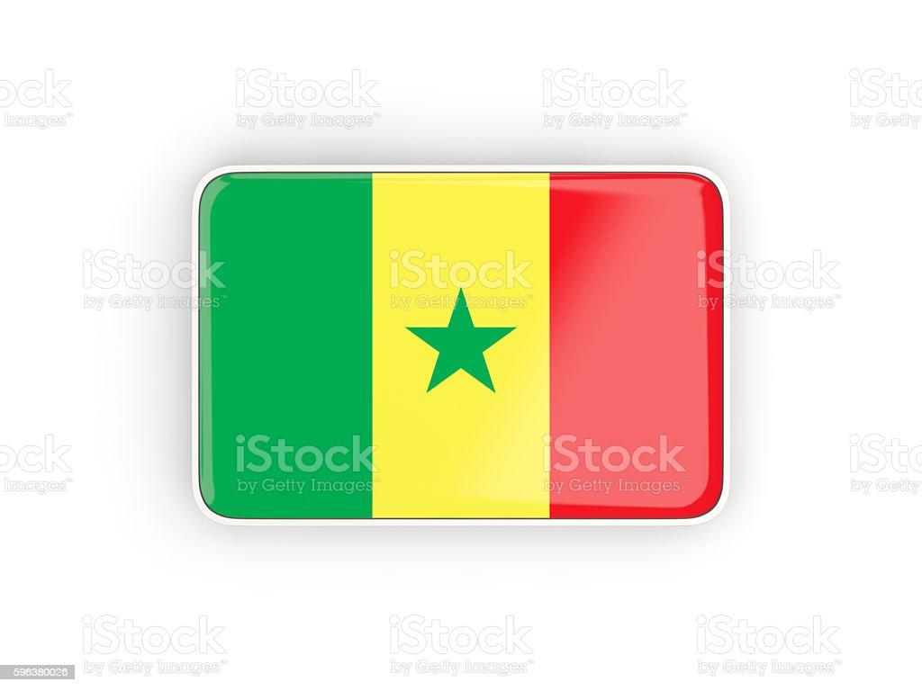 Flag of senegal, rectangular icon stock photo