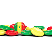 Flag of senegal, round buttons