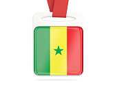 Flag of senegal, square card