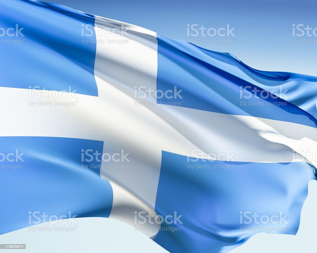 Flag of Shetland royalty-free stock photo