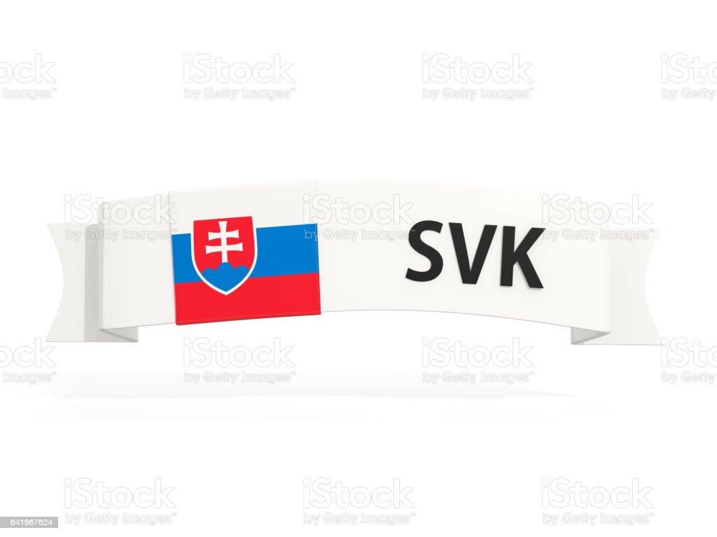 Flag of slovakia on banner stock photo