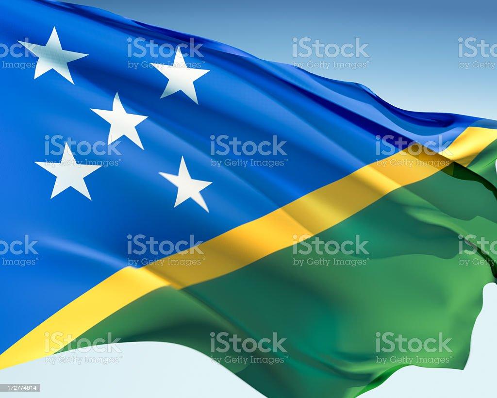 Flag of Solomon Islands royalty-free stock photo