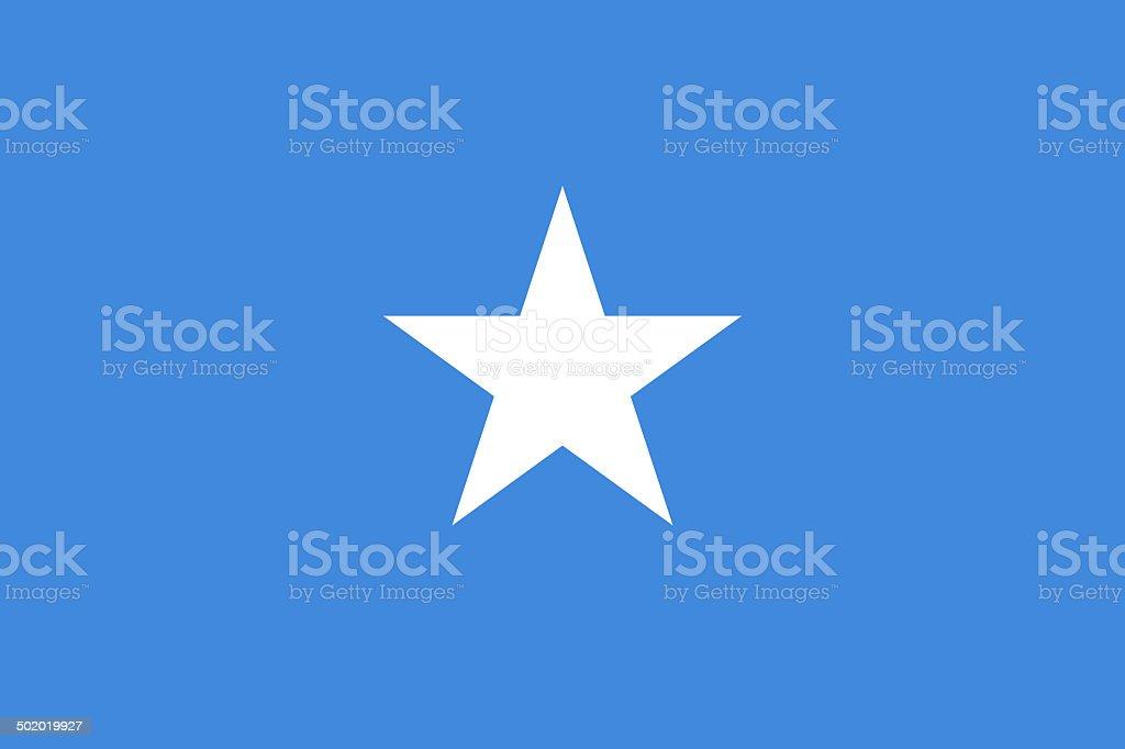 Flag of Somalia - Authentic version, (Large file size) stock photo