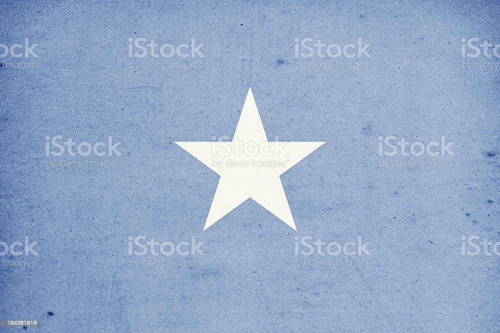 Flag of Somalia Close-Up (High Resolution Image) stock photo