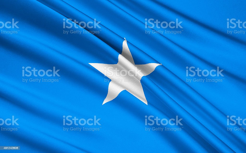 Flag of Somalia, Mogadishu stock photo