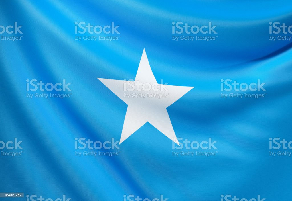 Flag of Somalia royalty-free stock photo