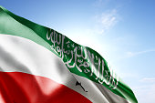 Flag of Somaliland waving in the wind