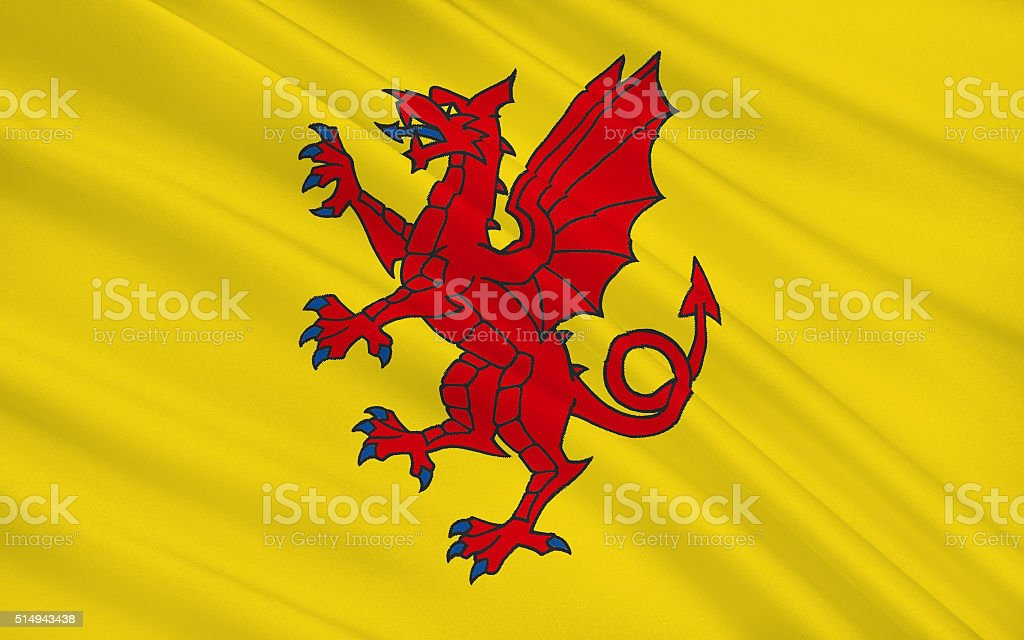 Flag of Somerset is a county, England stock photo