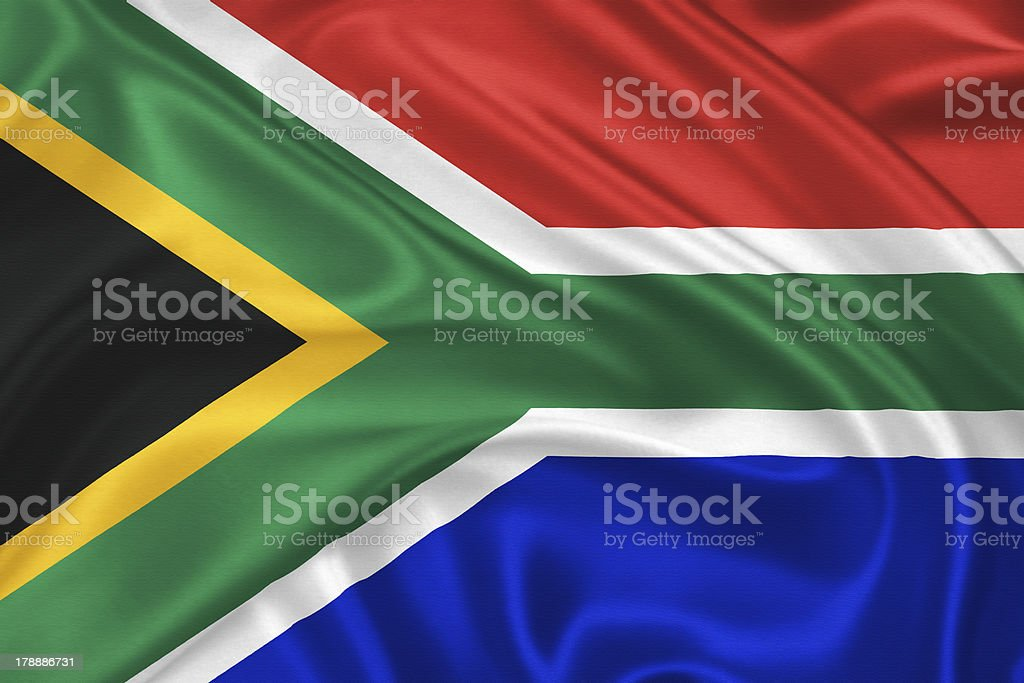 Flag of  South Africa royalty-free stock photo