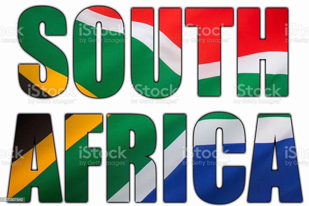 Flag of South Africa stock photo