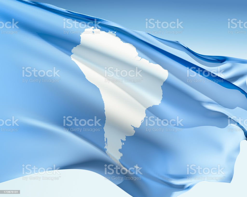 Flag of South America royalty-free stock photo