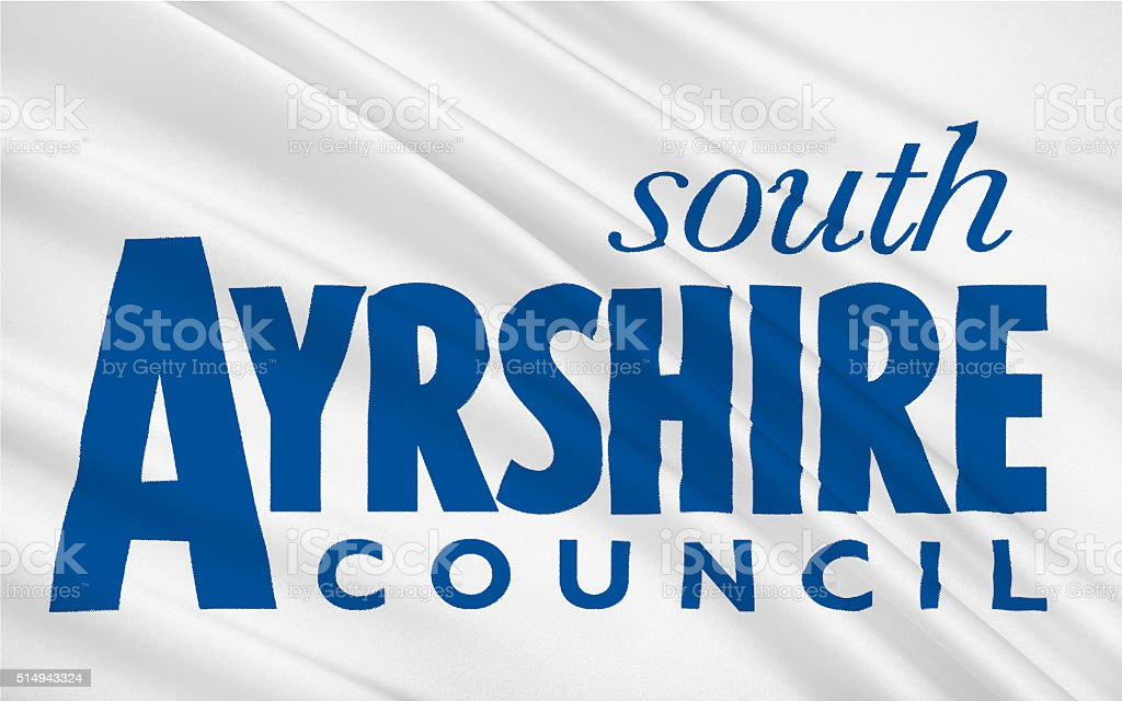Flag of South Ayrshire is council areas of Scotland stock photo