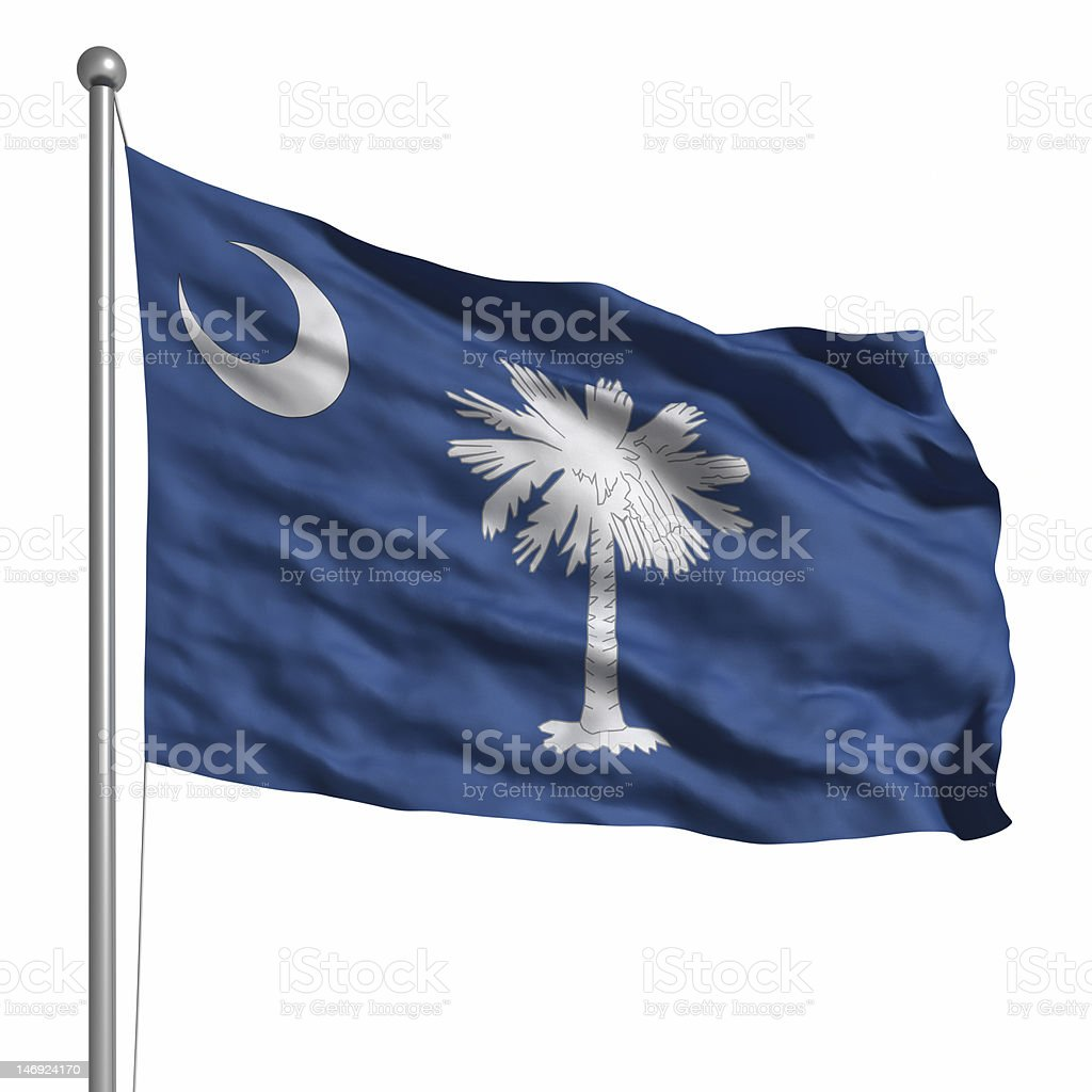 Flag of South Carolina (isolated) royalty-free stock photo