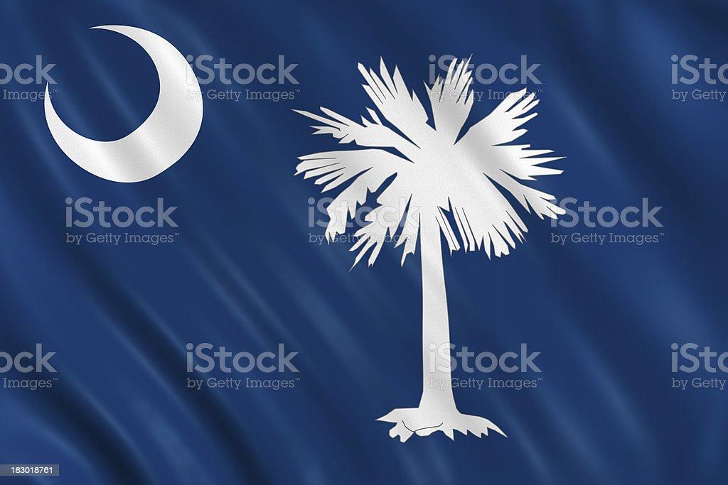 flag of south carolina royalty-free stock photo