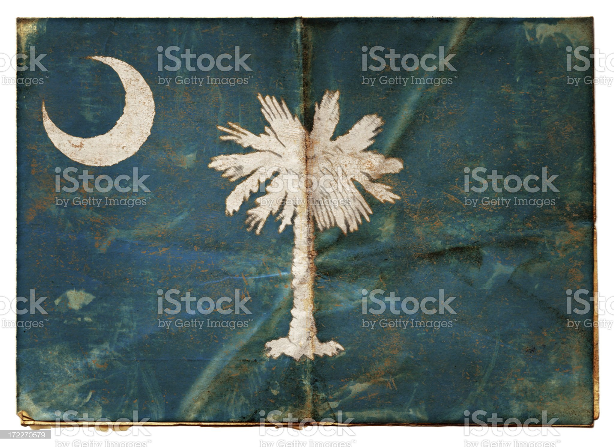 Flag of South Carolina XXL royalty-free stock photo