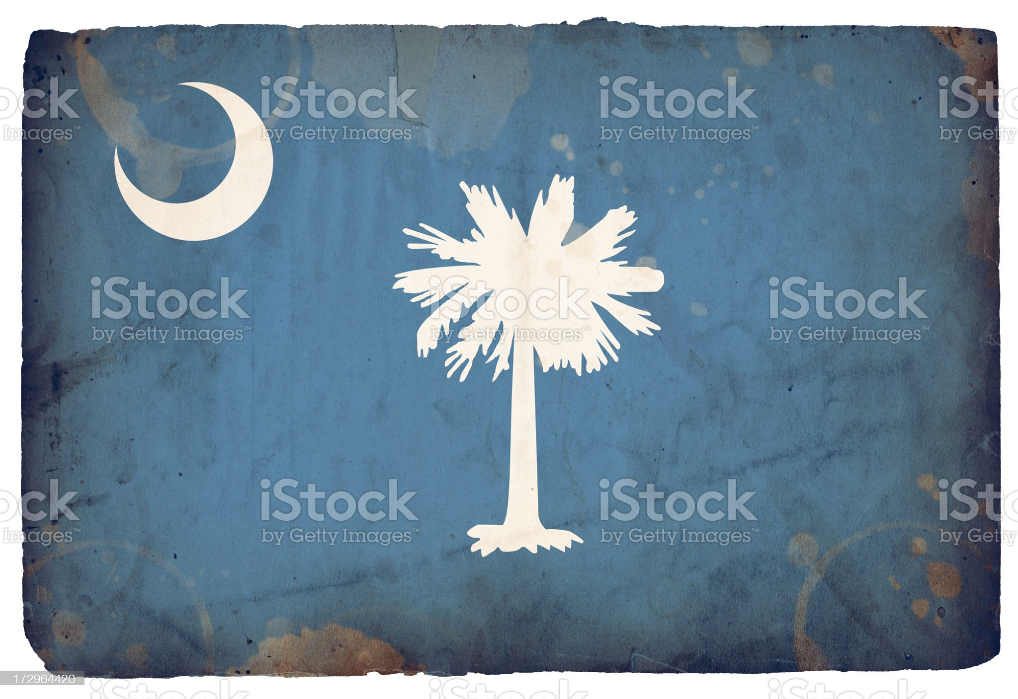 Flag of South Carolina XXXL royalty-free stock photo