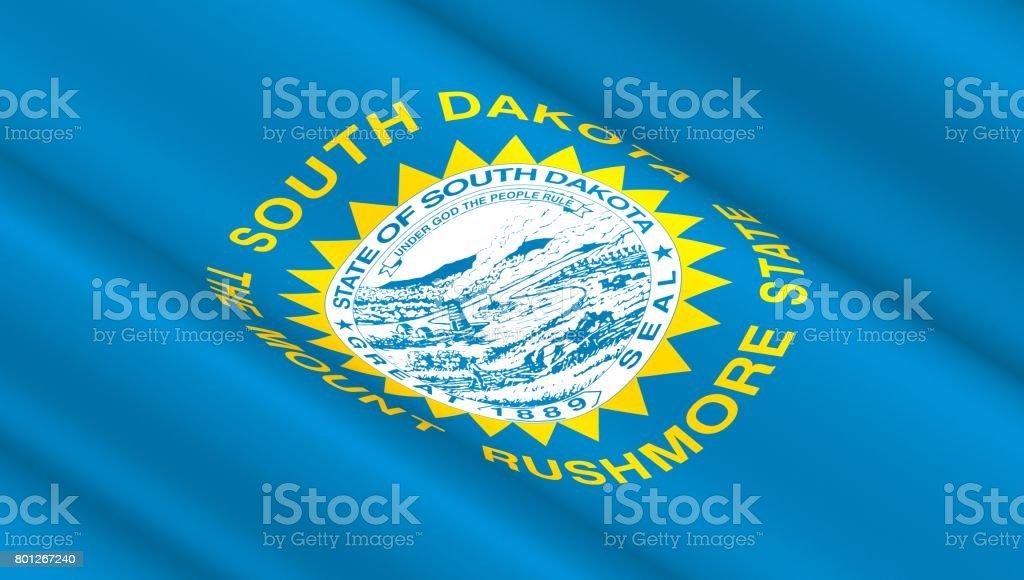 Flag of South Dakota state stock photo