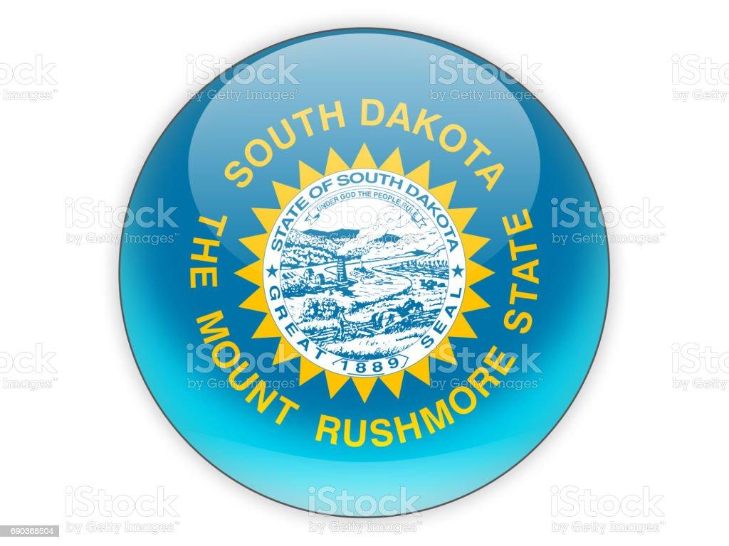 Flag of south dakota, US state icon stock photo