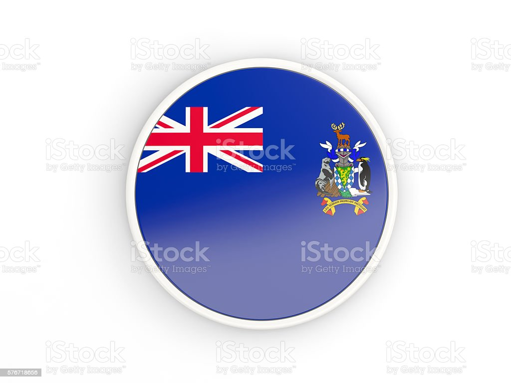 Flag of south georgia and the south sandwich islands stock photo