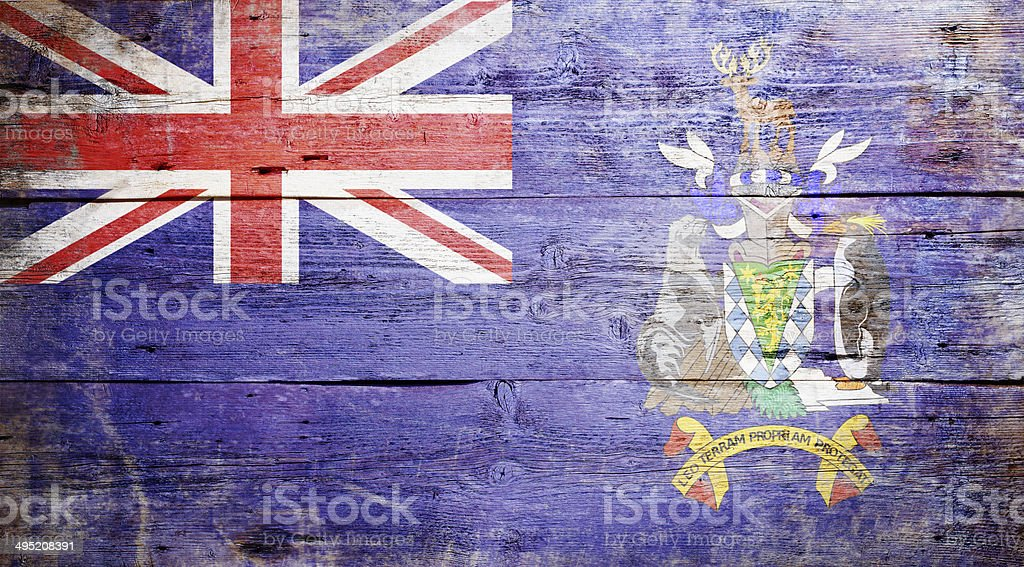 Flag of South Georgia stock photo