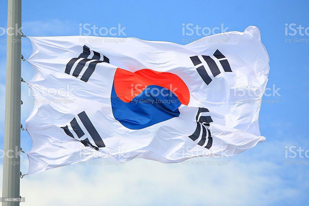 Flag of South Korea stock photo