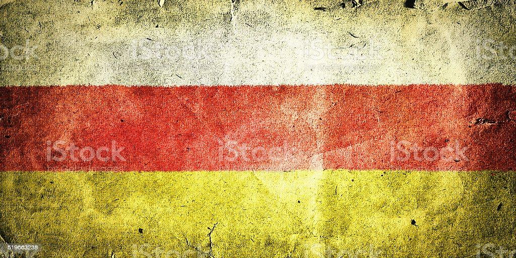 flag of South Ossetia (Georgia) stock photo