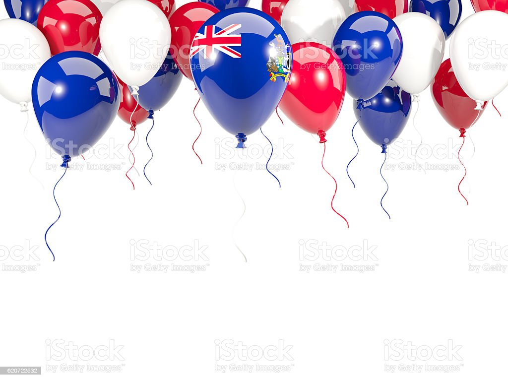 Flag of south sandwich islands on balloons stock photo
