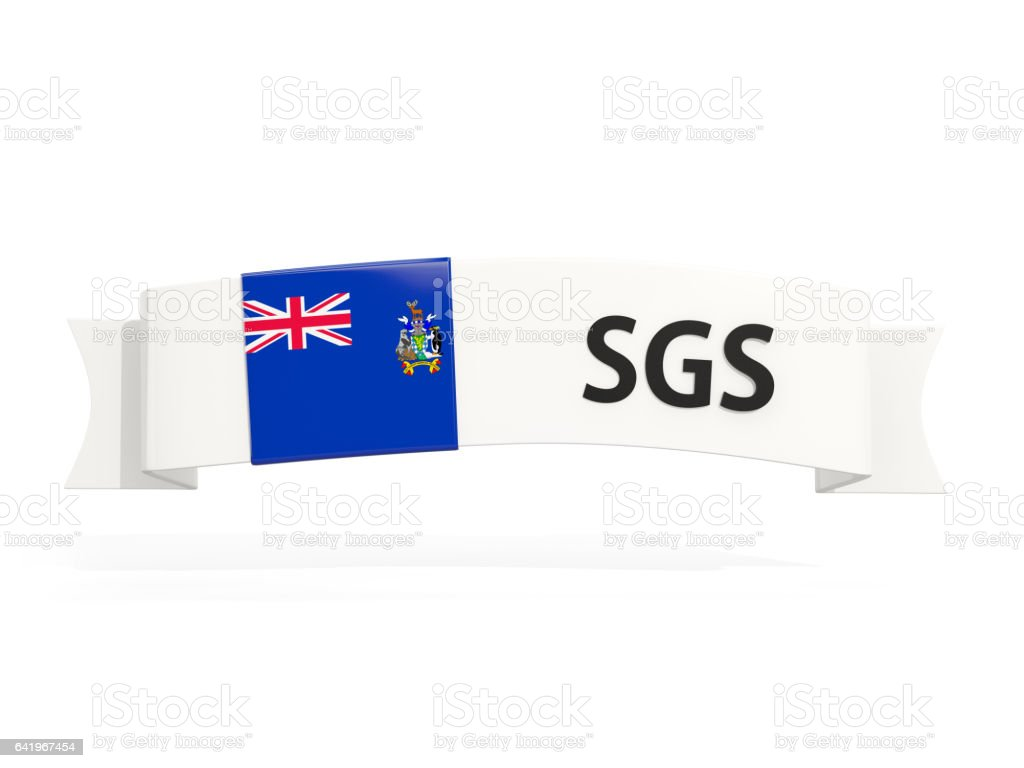 Flag of south sandwich islands on banner stock photo