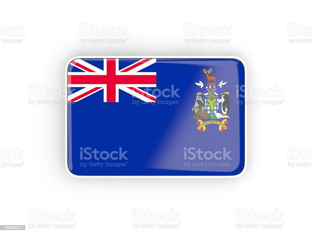 Flag of south sandwich islands, rectangular icon stock photo