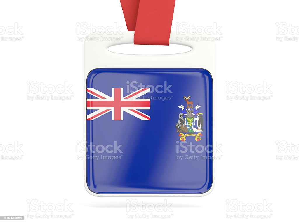 Flag of south sandwich islands, square card stock photo