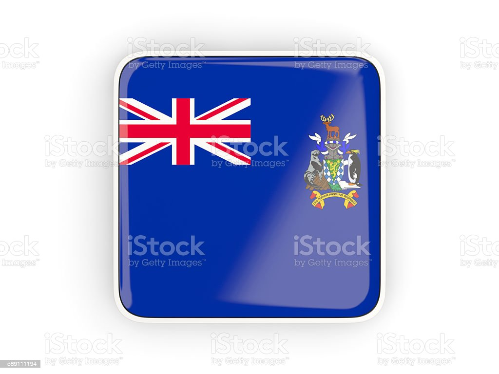 Flag of south sandwich islands, square icoт stock photo