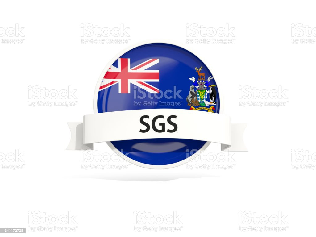 Flag of south sandwich islands with banner stock photo