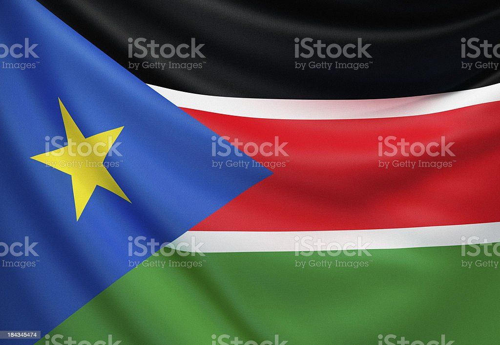 Flag of South Sudan stock photo
