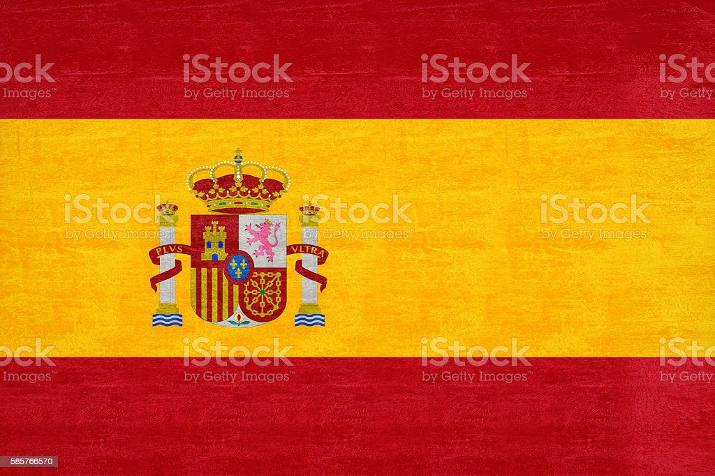 Flag of Spain Grunge stock photo