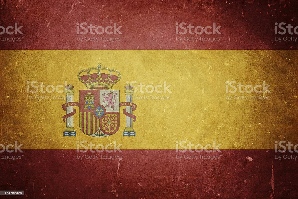Flag of Spain royalty-free stock photo