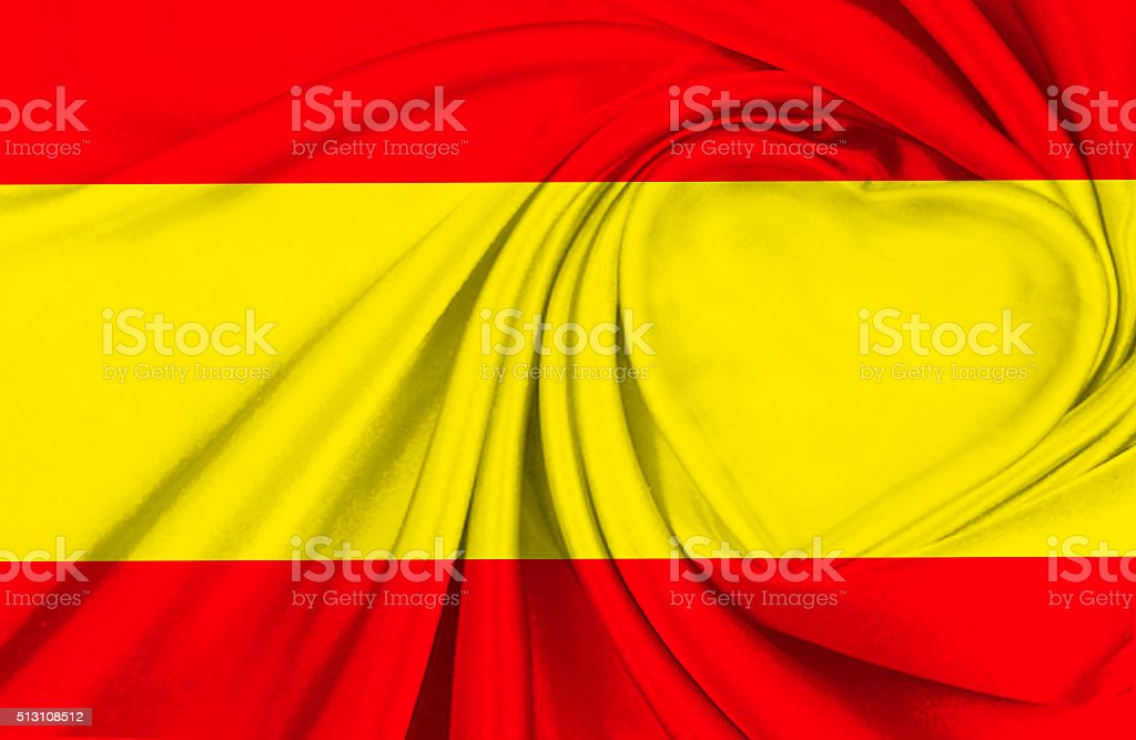 Flag of Spain stock photo