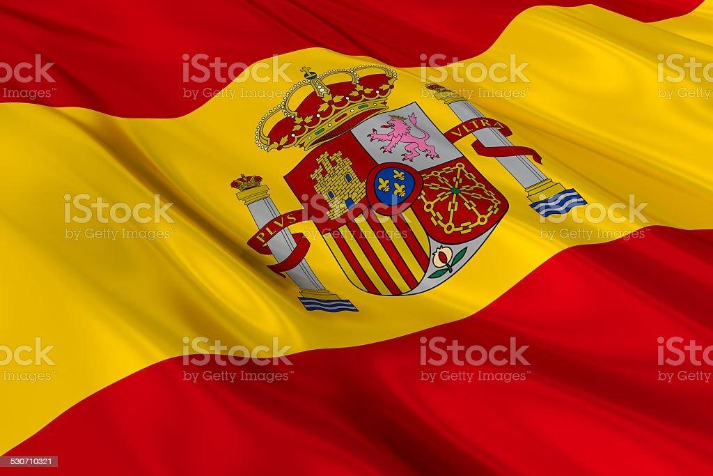 Flag of Spain. stock photo