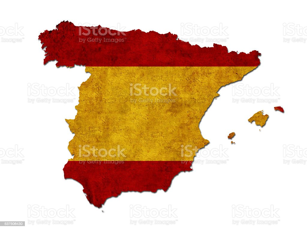 Flag of Spain stock photo