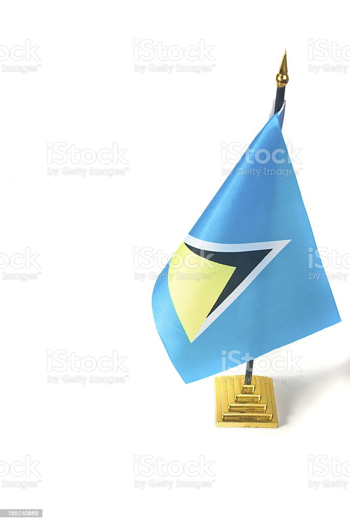 flag of st lucia isolated on white royalty-free stock photo