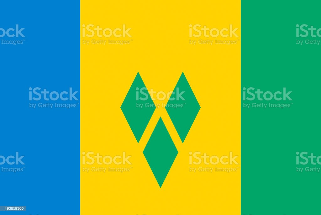 Flag of St. Vincent and the Grenadines stock photo