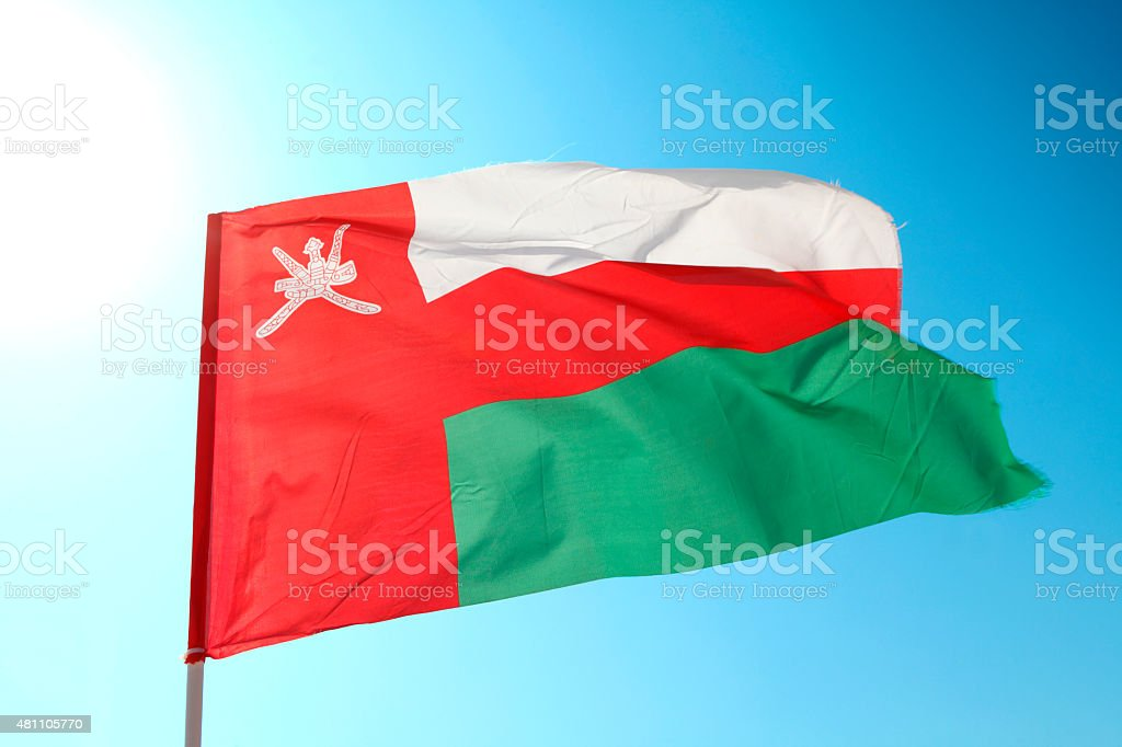 Flag of state Oman stock photo