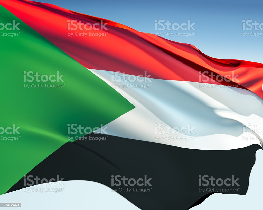 Flag of Sudan stock photo