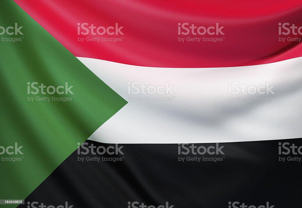 Flag of Sudan stock photo