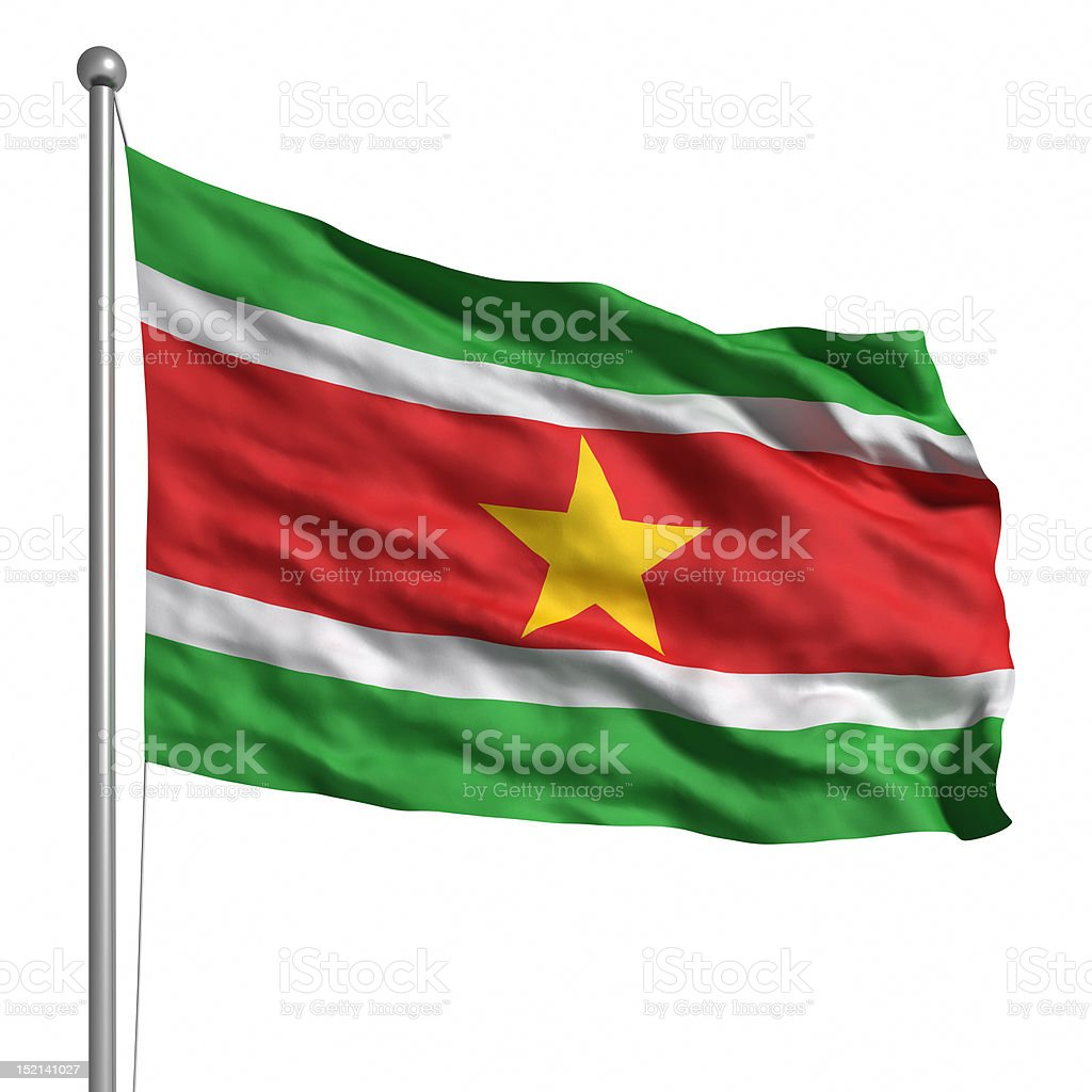 Flag of Suriname (Isolated) stock photo