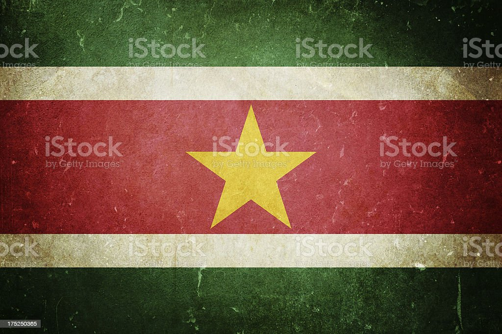 Flag of Suriname royalty-free stock photo