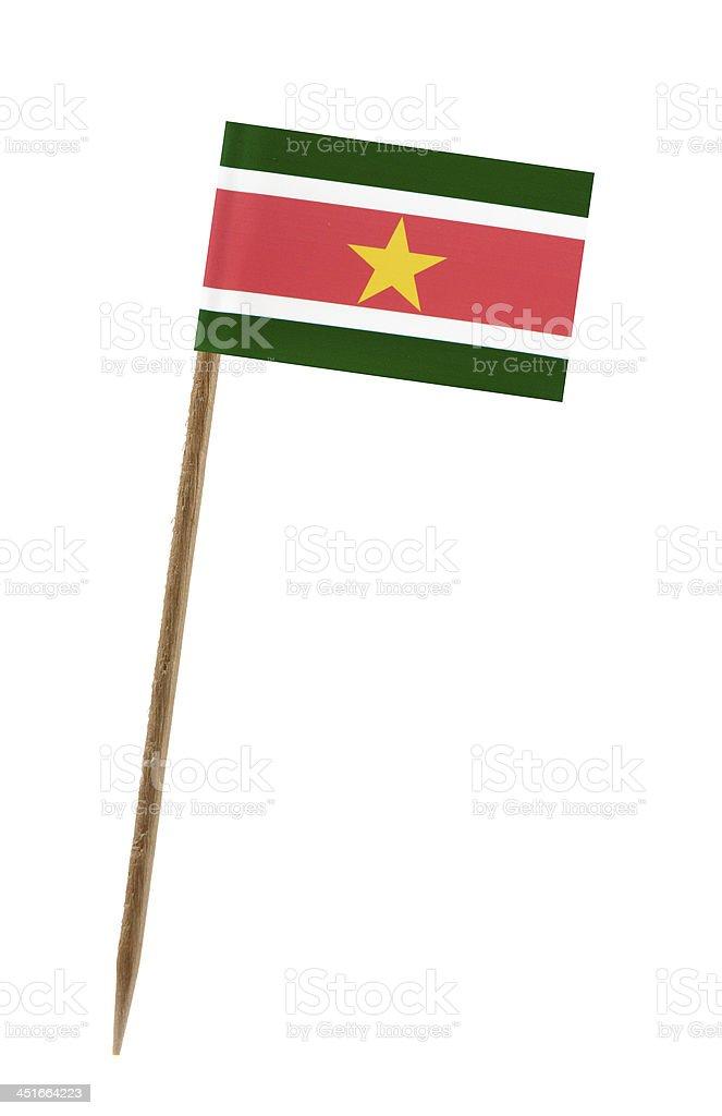 Flag of Suriname stock photo